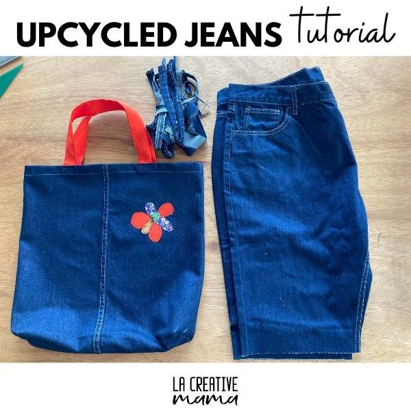 Make a Tote Bag from Upcycled Jeans - DIY Tutorial