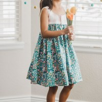 Easy Tank Dress for Girls - Free Sewing Pattern