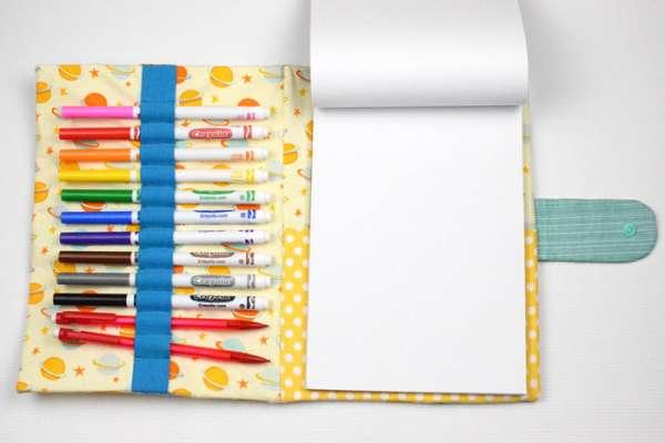 How to Sew a Kids Travel Art Folio