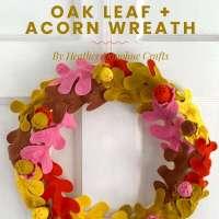 Felt Fall Leaf Wreath DIY Tutorial