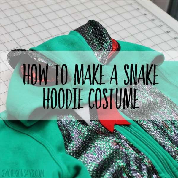 Snake Hoodie Costume Free Sewing Pattern