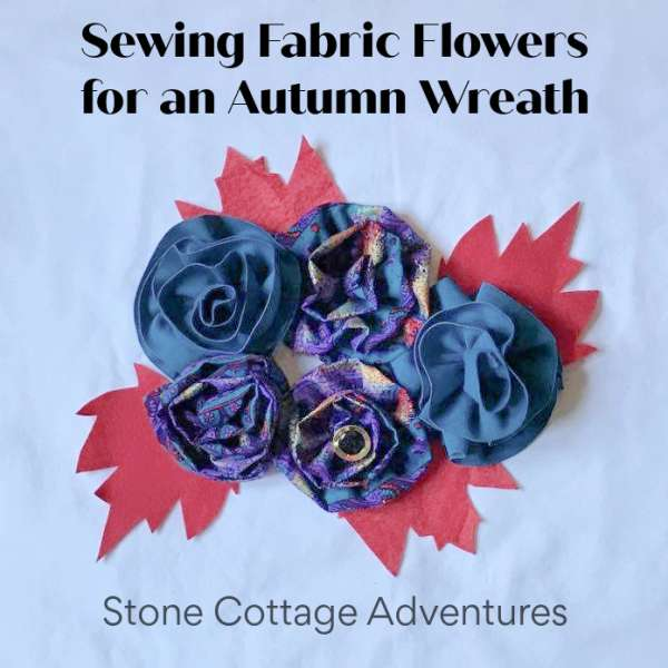 Gathered Fabric Flowers Sewing Tutorial