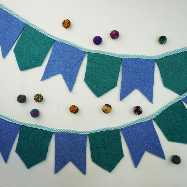 Upcycled Wool Felt Banner Sewing Tutorial