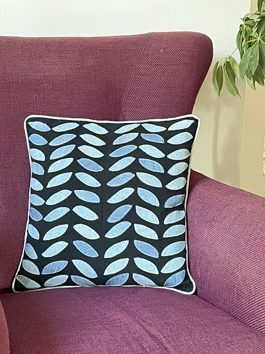 Upcycled Jeans Pillow with Leaf Design - Sewing Tutorial