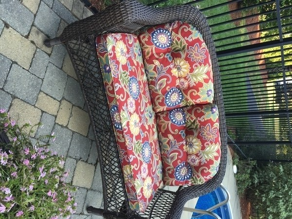 sewing patterns for patio chair cushions rent chairs and tables no pattern used wicker loveseat cushion outdoor prevnext