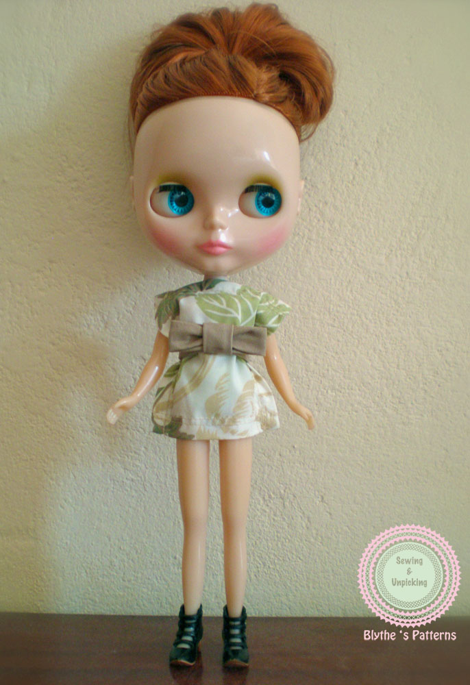 Un mini vestido para el que no necesitas patrón