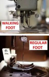 Walking Foot Machine vs Accessory
