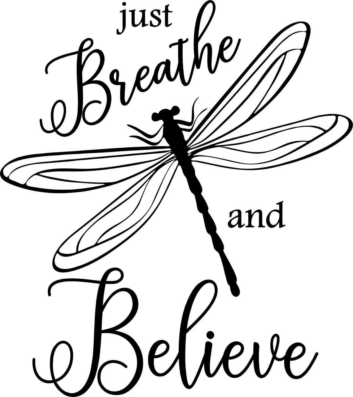 Download Breathe And Believe Dragonfly SVG Cut and Print digital ...