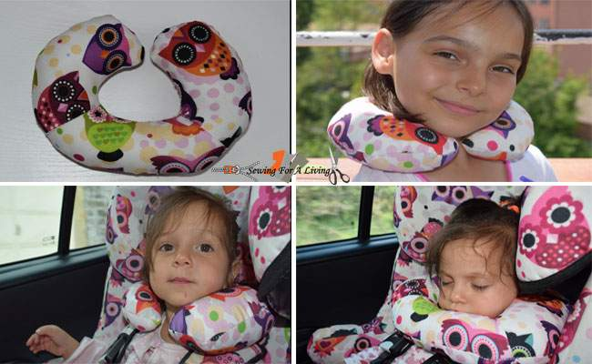 diy travel pillow with a free pattern