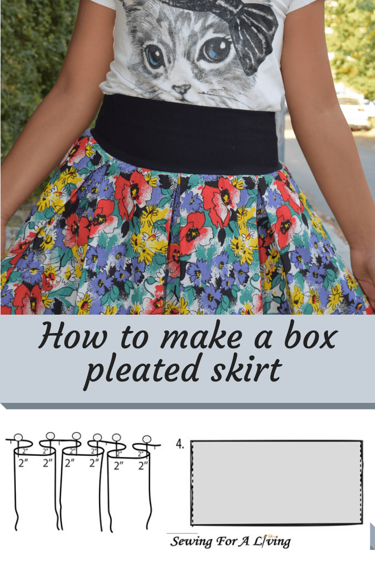 Sewing tutorial: Box pleated skirt