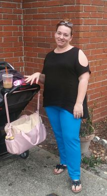 My first outfit in black rayon challis and blue stretch cotton twill
