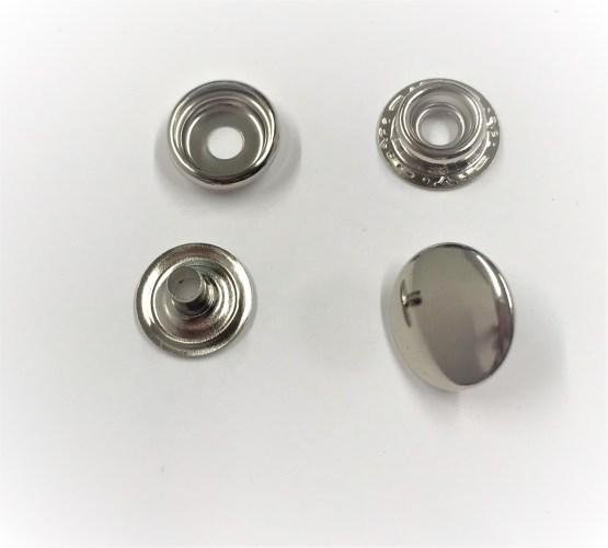 Kraftig fritidsknapp silver 15mm