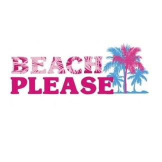 Vinyltryck Beach please