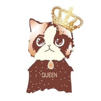 Vinyltryck Katt queen