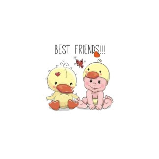 Vinyltryck best friends 12x12