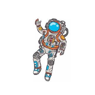 Vinyltryck Astronaut 8x14