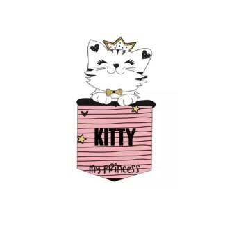 Vinyltryck ficka kitty 6x11