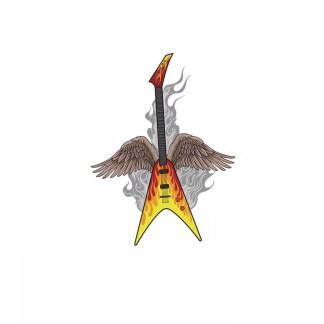 Vinyltryck gitarr vingar 20x25