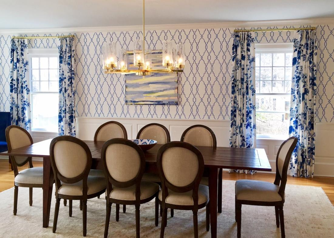 Dining Room Window Treatment from The Sewing Loft of Avon