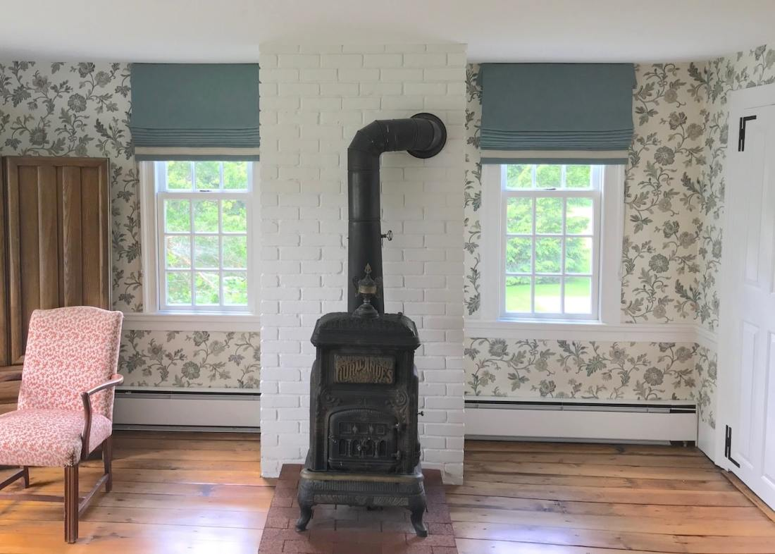 Family Room Window Treatments from The Sewing Loft of Avon