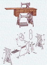Singer Treadle Stand Parts