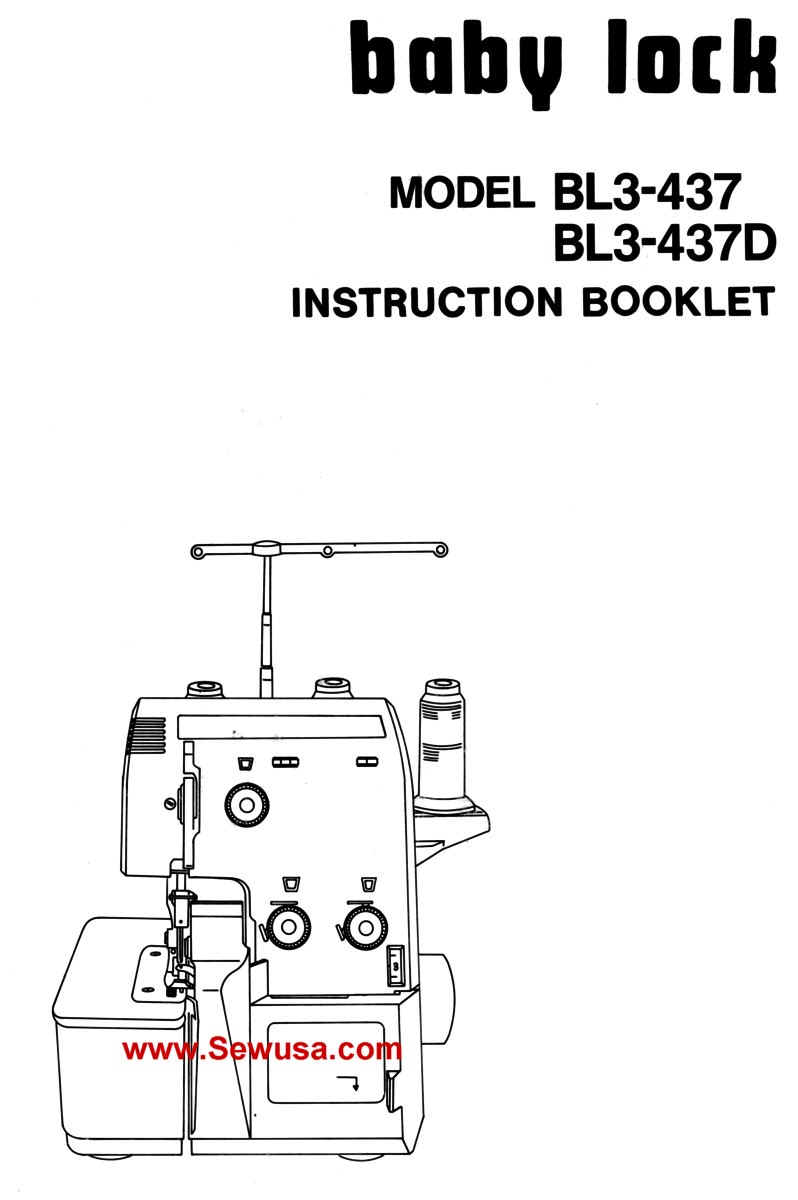Babylock Model BL3-437 437-D Instruction Manual