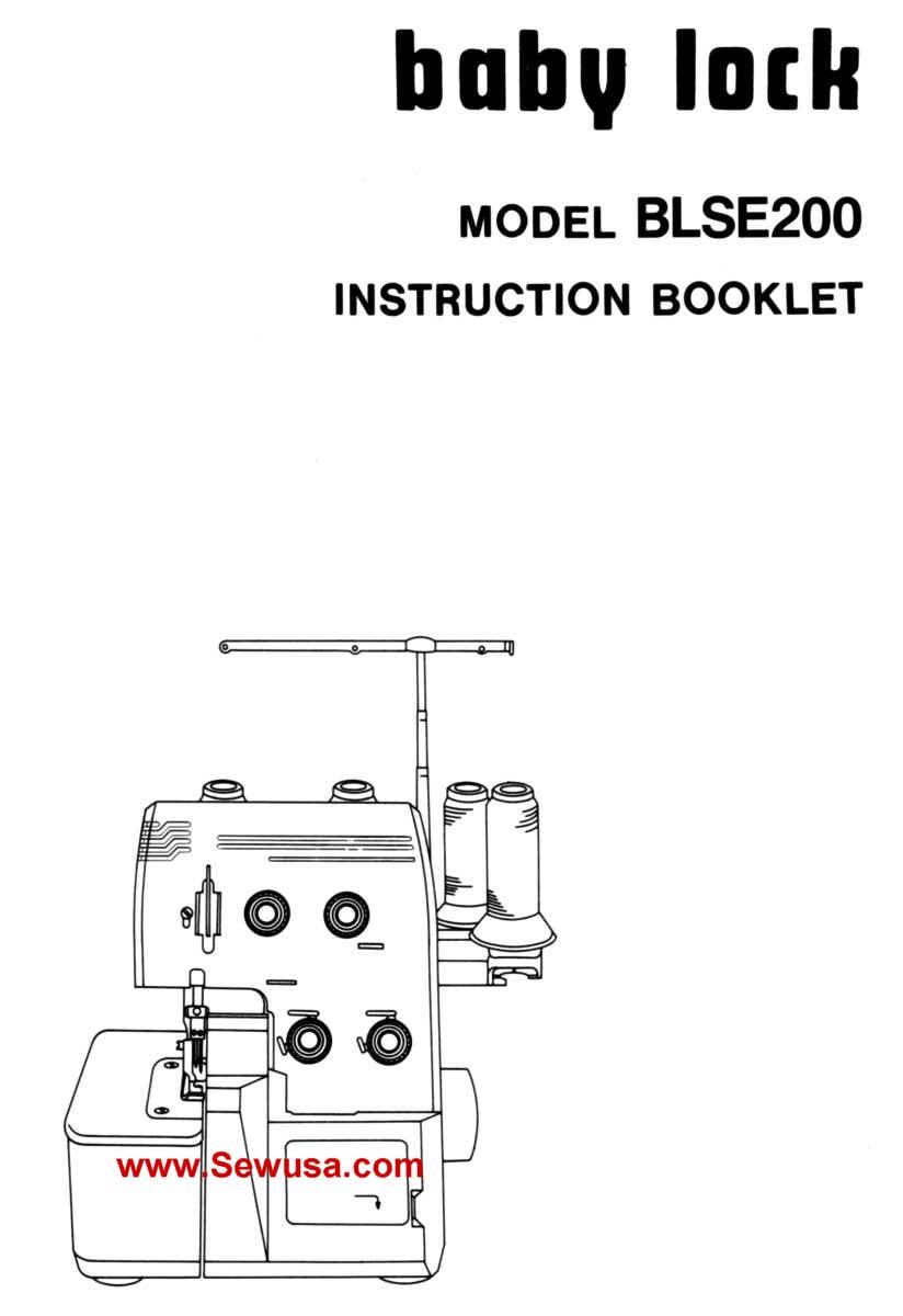 Babylock Model BLSE 200 Instruction Manual