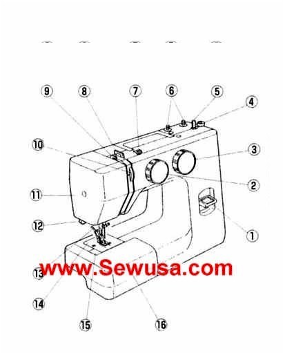New Home Model 1170 Sewing Machine Instruction Manual