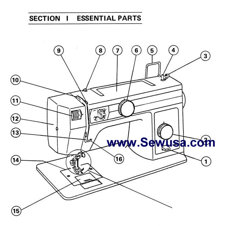 New Home Janome Model S 650 Sewing Machine Instruction Manual