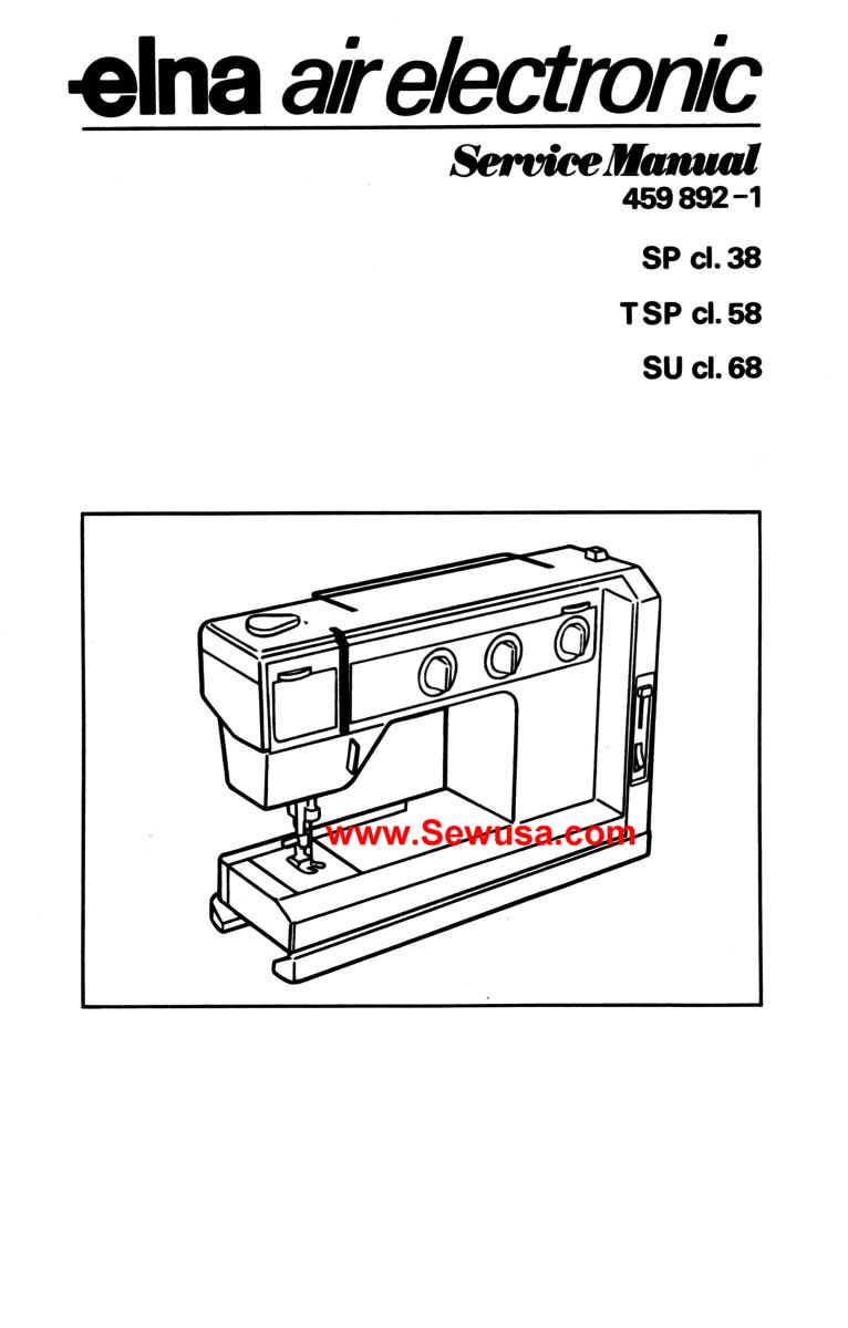 Elna Air Electronic Service Manual