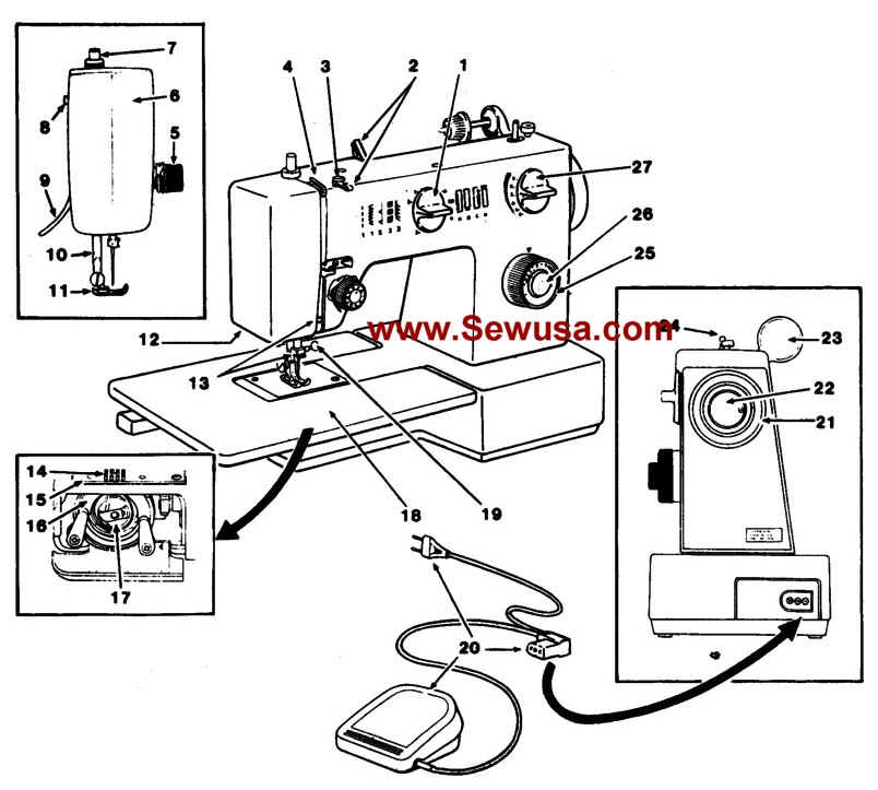 Singer 5144 Instructions Manual