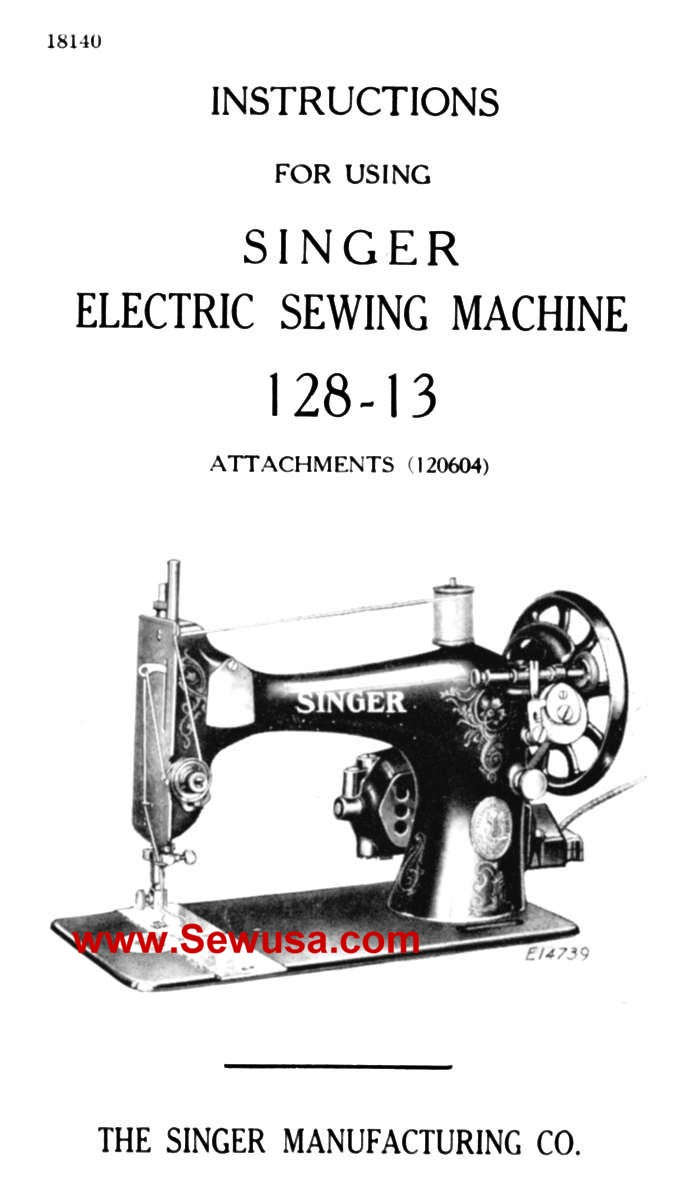 Singer 128-13 Instruction Manual