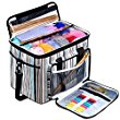 BONTIME Knitting Bag – High Capacity Striped Yarn Storage Tote Bag,Project Bags with Roomy Interior