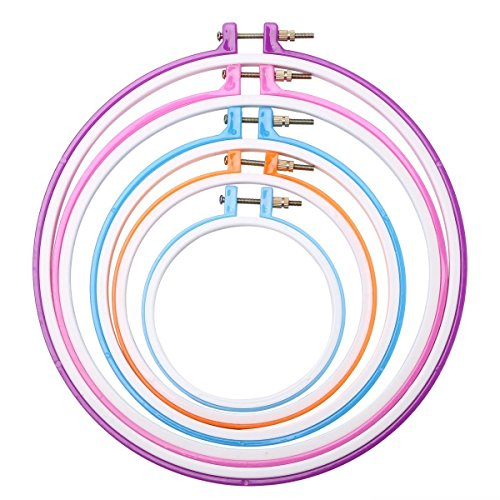 Caydo 5 piece plastic embroidery hoops