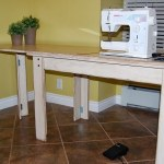 How to make a drop in sewing table