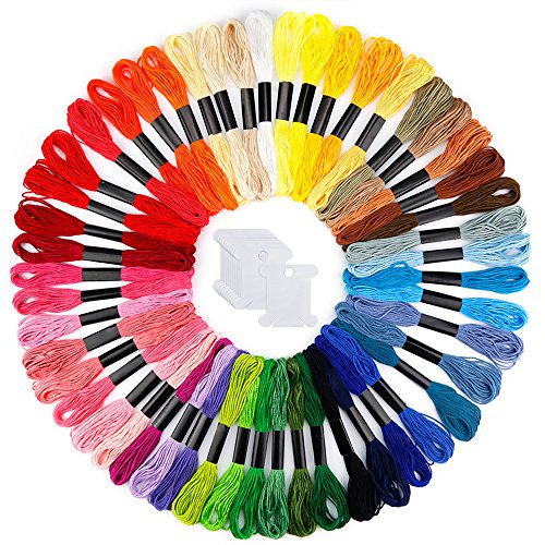 Caydo Embroidery Floss 50 Skeins Rainbow Color