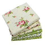iNee Green Floral Fat Quarters Quilting Fabric