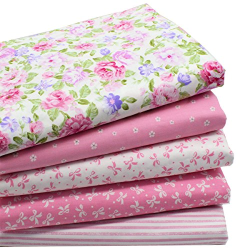 iNee Pink Fat Quarters Quilting Fabric