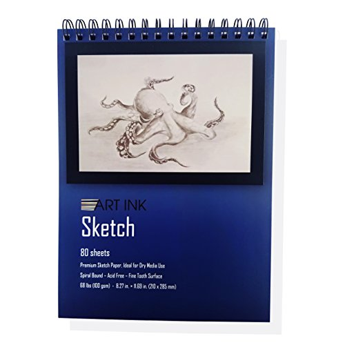 """Sketch PAD, 80 Sheets, 8.3""""x 11.7"""", 68lbs-100g/m2, Drawing and Sketch Paper"""