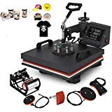 Mophorn 15 x 15 Inch 5 in 1 Heat Press Machine