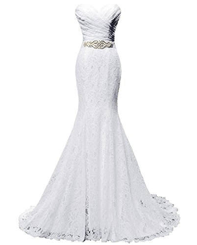 Solovedress W0001 Beaded Pleat Lace Wedding Dress