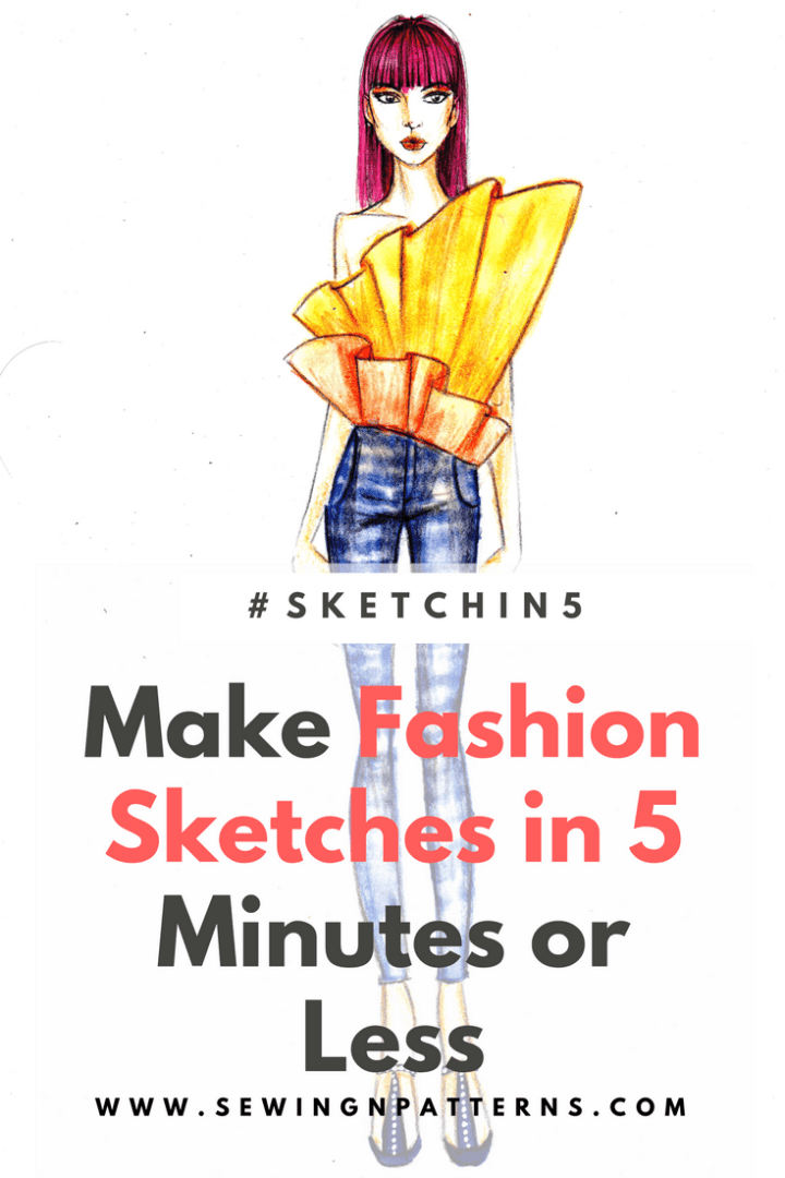 5 Minute fashion sketches series #sketchin5 (sketch 4)