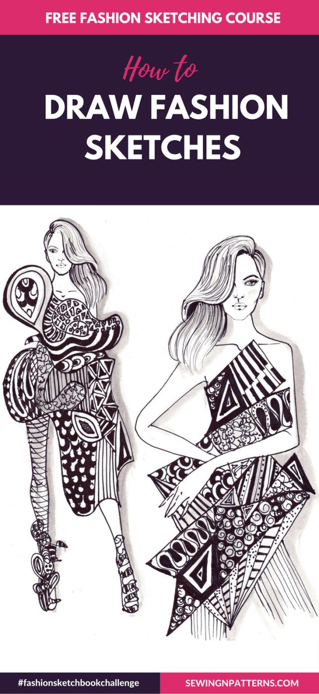 fashion illustration techniques, fashion illustration tutorial, fashion illustration sketches