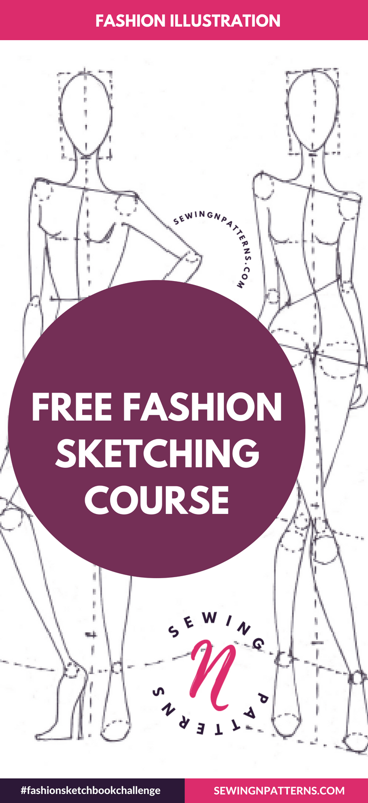 You are invited to join my FREE fashion sketching course that helps you make amazing fashion design sketches even if you are complete beginner. Click here to get started https://sewingnpatterns.com/fashion-sketchbook-challenge/ (how to draw fashion design sketches, fashion design illustrations, fashion illustration techniques, step by step fashion illustration, Sewing projects for beginners, Sewing clothes, sewing tutorials step by step).