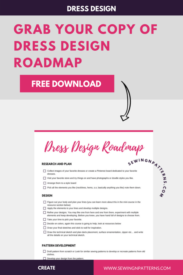 Get your copy of this Free dress design roadmap to make you dress making process super fun. (Sewing projects for beginners, diy sewing projects, useful sewing projects, quick sewing projects, free sewing projects, beginners sewing, Sewing clothes, sewing tutorials step by step, dress making For beginners, dress making patterns, dress making tutorial, dress making ideas, Diy Dress making, Dress making inspiration, step by step dress making)