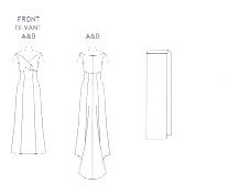 Badgley Mischka Designer Gown Vogue Pattern 2134 Size 18