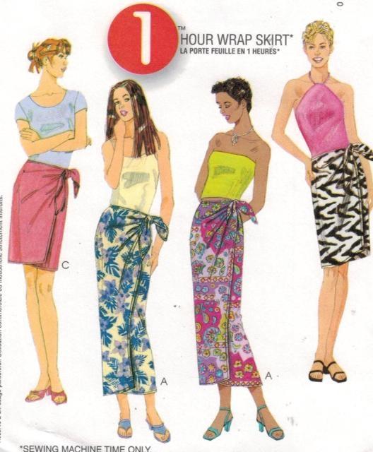 Sarong Pattern : sarong, pattern, McCalls, Pattern, Misses, Skirt, Sarong, Sewing, Heaven