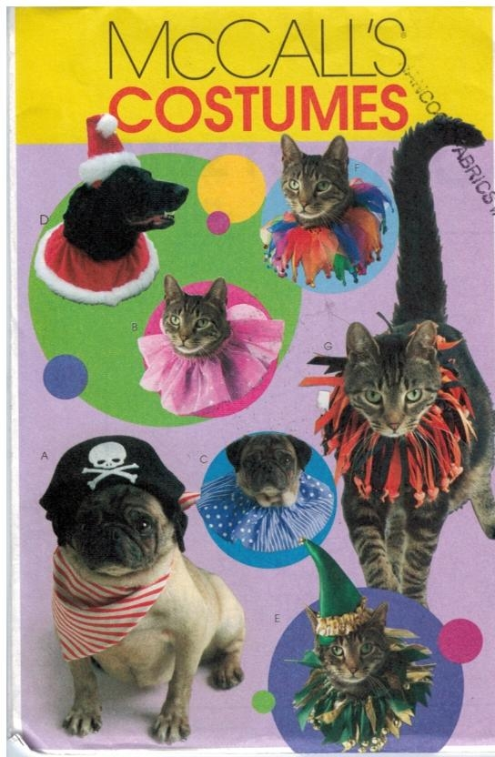 McCalls Pattern 5215 Cats and Dogs Pet Costumes  Sewing