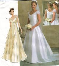 Vogue Pattern 2788 Wedding Gown Bridesmaid Train Empire ...