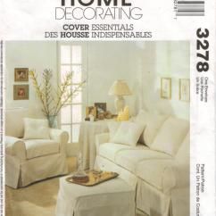 Sofa Slipcover Patterns Free Small White Curved Mccalls Pattern 3278 Home Decorating Sewing
